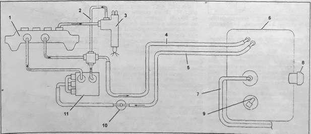 Схема топливной системы 4HK1